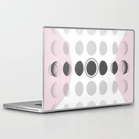 moon phase Laptop & iPad Skins featuring Moon Phase by Emily Morris