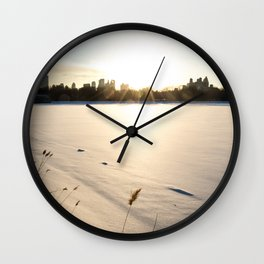New York : The Snow, the Sun & The Skyline Wall Clock