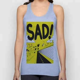 have meant  tech science future sad yellow street Unisex Tank Top