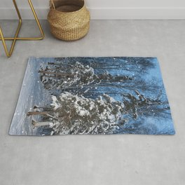 Bright Winter Snow 2 Rug