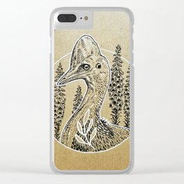 Cassowary Love Clear iPhone Case