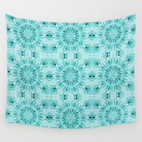 teal Wall Tapestries featuring Teal by lillianhibiscus