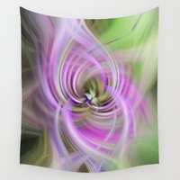 wisconsin Wall Tapestries featuring Meditation Swirl Purple Wisconsin Wildflower by Ginkelmier