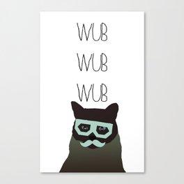 dubstep cat Canvas Print