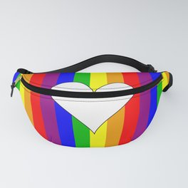 Gay flag with the colors of the rainbow with a heart Fanny Pack