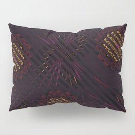 Floral Stripes Muted Deep Tones Pillow Sham