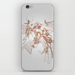 Bronze Animal Skull Abstract Vector Art iPhone Skin