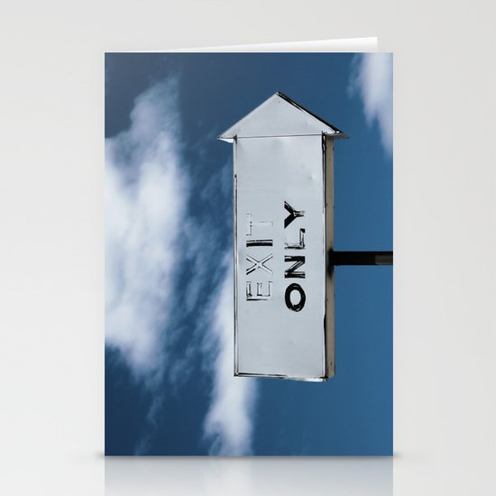 Exit Only Stationery Cards