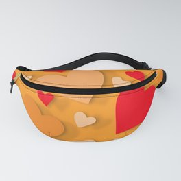 Decorative paper heart 8 Fanny Pack