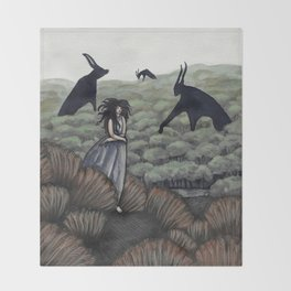 Demons in the Distance Throw Blanket