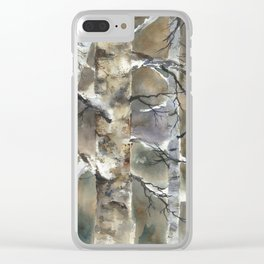 Birch Forest, an original watercolor painting Clear iPhone Case