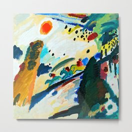 Wassily Kandinsky Romantic Landscape Metal Print