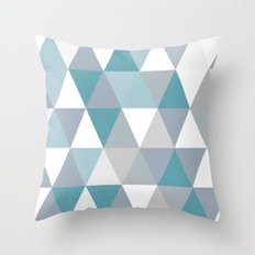 Rombi light blue Throw Pillow