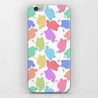 mew iPhone & iPod Skins featuring Mew-Boo by Lixxie Berry Illustration