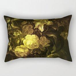 Flowers in a Vase - yellow Rectangular Pillow