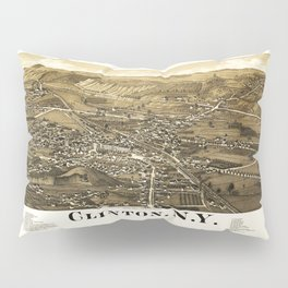 Aerial View of Clinton, New York (1885) Pillow Sham