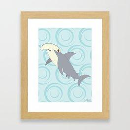 Shock Cousteau Hammerhead Shark Framed Art Print