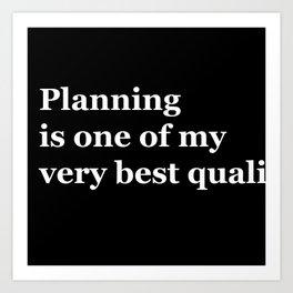 Planning Art Print