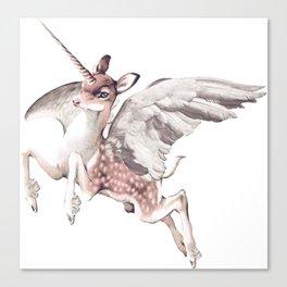 Deer Flying Unicorn Canvas Print