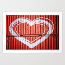 HEART ON CONTAINERS Art Print