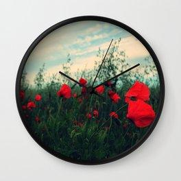 POPPY FIELDS Wall Clock