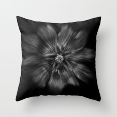Backyard Flowers In Black And White 22 Flow Version Throw Pillow