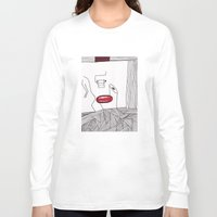 toilet Long Sleeve T-shirts featuring toilet by DAMlab