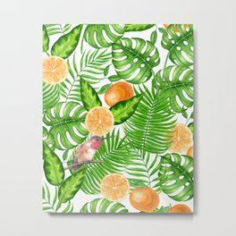 Tropical pattern, hummingbirds II Metal Print