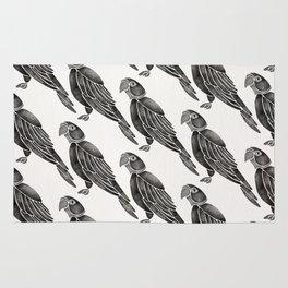Perched Parrot – Black Palette Rug