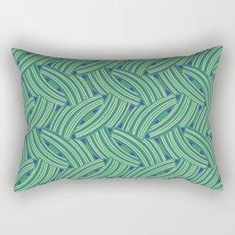 Woven Lines Arrows Rectangular Pillow