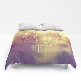 Bokeh Quote Comforters