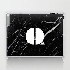 Black Marble - Alphabet Q Laptop & iPad Skin