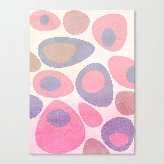Mod Egg Textured Pink Canvas Print