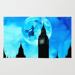 Magical Watercolor Night - Mary Poppins Rug