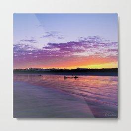 Fisherman's village beach sunset - Landscape photography Metal Print