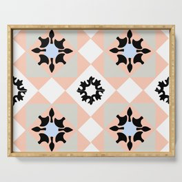 Portuguese tiles pattern vector Serving Tray