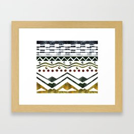 Ethnic Stencil Framed Art Print