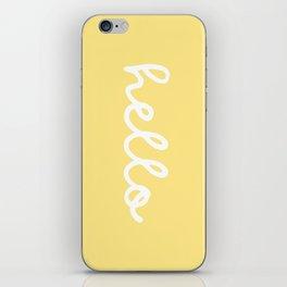 HELLO YELLOW iPhone Skin