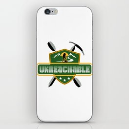 "Emblem for travelers ""Unreachable"" iPhone Skin"