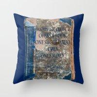 books Throw Pillows featuring Books by Dora Birgis