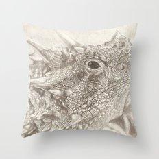 The Horned Lizard. Throw Pillow