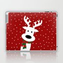 Reindeer in a snowy day (red) by absentisdesigns