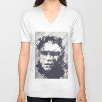 steve mcqueen V-neck T-shirts featuring Steve McQueen - The Legend by HelloFedUp