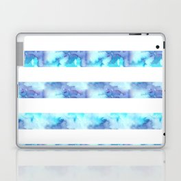 Blue & Purple Watercolor Stripes Laptop & iPad Skin