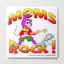 MOMS ROCK Metal Print