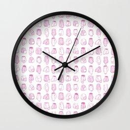 Cocks Pattern Wall Clock