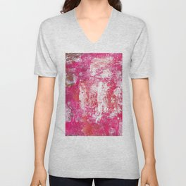 Roses Play Color On Ice Unisex V-Neck