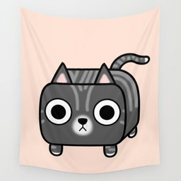 Cat Loaf - Grey Tabby Kitty Wall Tapestry