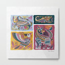 Alebrijes Animals - Natural Tint Metal Print