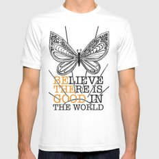 Believe There is Good in the World Mens Fitted Tee White MEDIUM